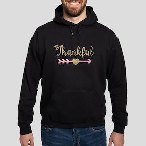 Glitter Thankful Hoodie (dark)