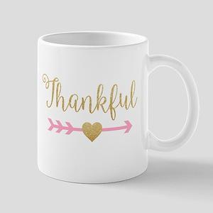 Glitter Thankful Mugs