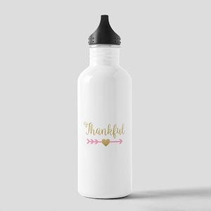 Glitter Thankful Stainless Water Bottle 1.0L
