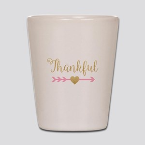 Glitter Thankful Shot Glass
