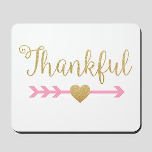 Glitter Thankful Mousepad