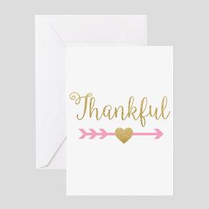 Glitter Thankful Greeting Cards