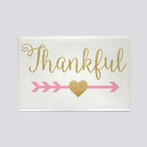 Glitter Thankful Magnets