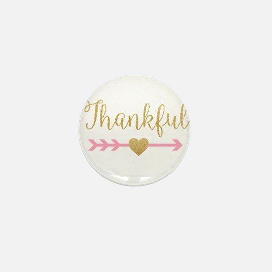 Glitter Thankful Mini Button
