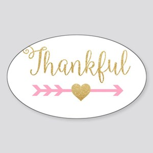 Glitter Thankful Sticker