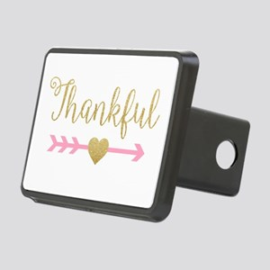 Glitter Thankful Rectangular Hitch Cover