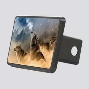 Wolves During Winter Rectangular Hitch Cover