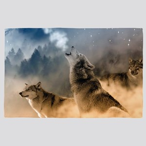 Wolves During Winter 4' x 6' Rug