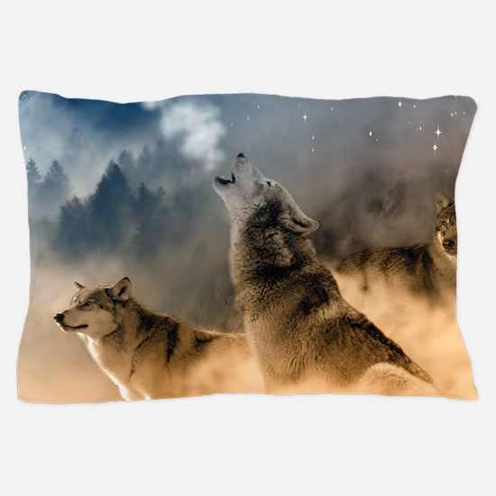 Wolves During Winter Pillow Case