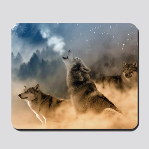 Wolves During Winter Mousepad
