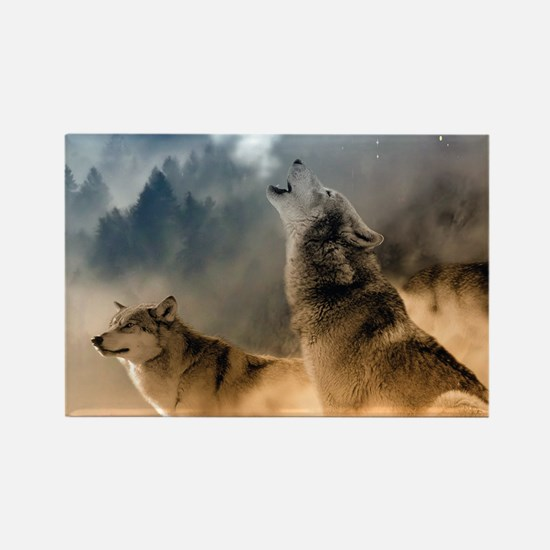 Wolves During Winter Magnets