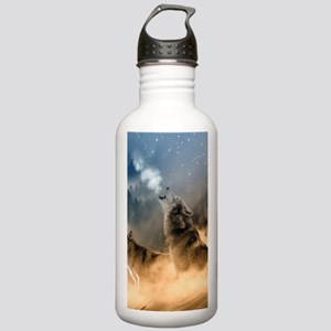 Wolves During Winter Sports Water Bottle