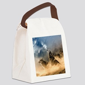 Wolves During Winter Canvas Lunch Bag