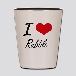 I Love Rubble Shot Glass