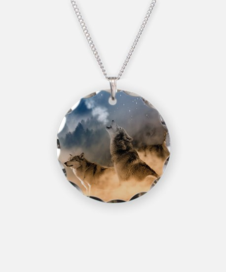 Wolves During Winter Necklace