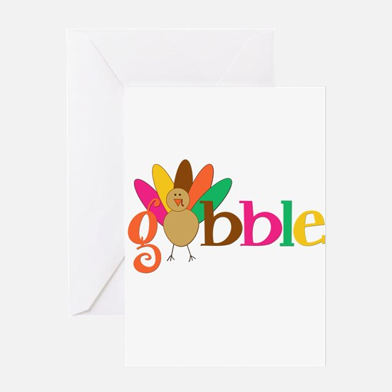 Gobble Turkey Greeting Cards