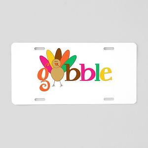 Gobble Turkey Aluminum License Plate