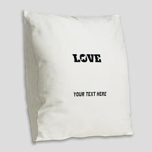 Cocker Spaniel Love (Custom) Burlap Throw Pillow