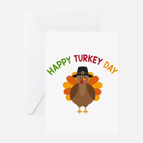 Happy Turkey Day Greeting Cards
