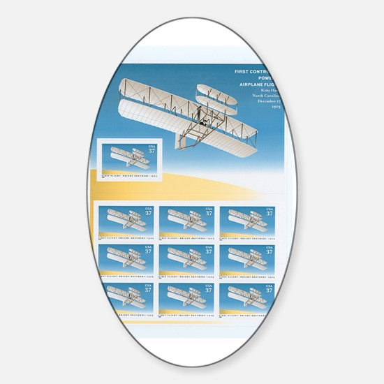 Kitty Hawk 100 Years First Powered  Sticker (Oval)