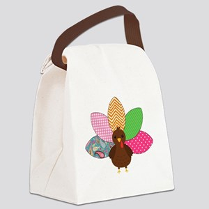 Colorful Turkey Canvas Lunch Bag