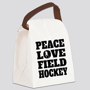 Peace Love Field Hockey Canvas Lunch Bag