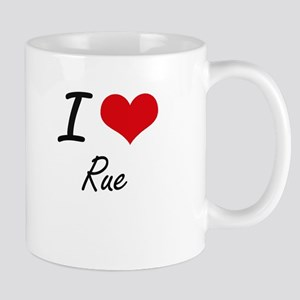 I Love Rue Mugs