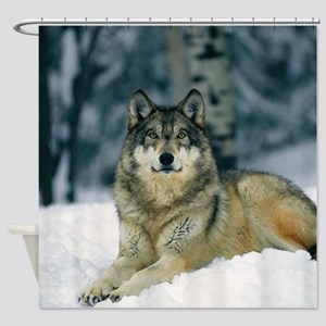Wolf In The Snow Shower Curtain