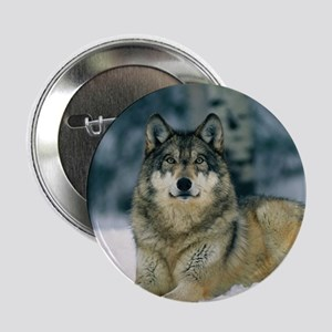 """Wolf In The Snow 2.25"""" Button (10 pack)"""