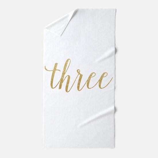 Glitter Three Beach Towel