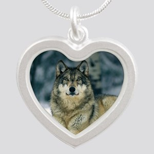 Wolf In The Snow Necklaces