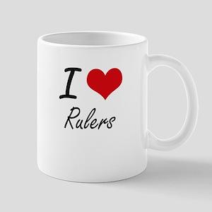 I Love Rulers Mugs