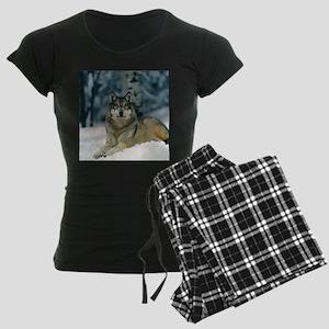 Wolf In The Snow Pajamas