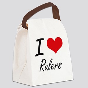 I Love Rulers Canvas Lunch Bag