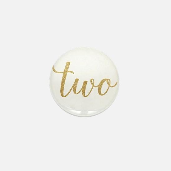 Glitter Two Mini Button