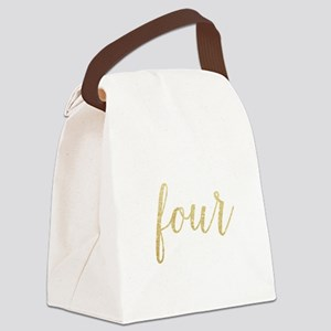 Glitter Four Canvas Lunch Bag