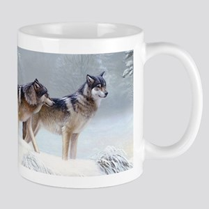 Pack Of Wolves During Winter Mugs