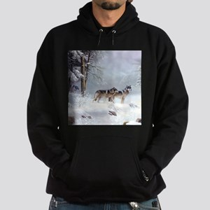 Pack Of Wolves During Winter Sweatshirt
