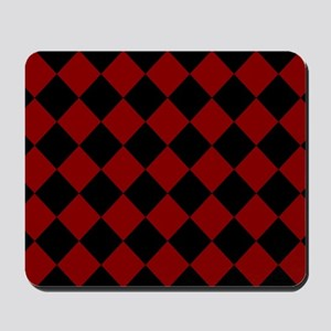 Red and Black Check / Diamond Mousepad