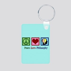 Cute Philosophy Aluminum Photo Keychain