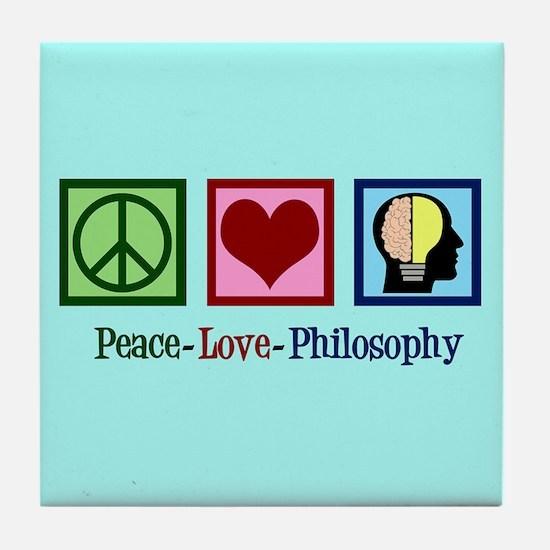 Cute Philosophy Tile Coaster