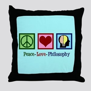 Cute Philosophy Throw Pillow
