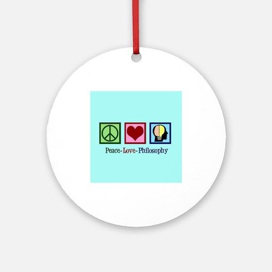 Cute Philosophy Round Ornament