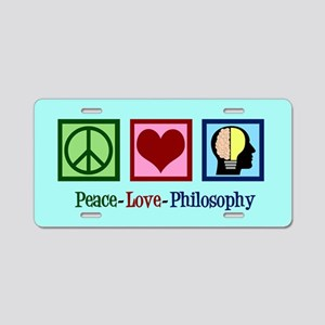 Cute Philosophy Aluminum License Plate