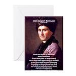 Jean Jacques Rousseau: Education Greeting Cards (P