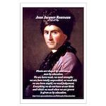 Jean Jacques Rousseau: Education Large Poster