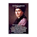 Jean Jacques Rousseau: Education Mini Poster Print