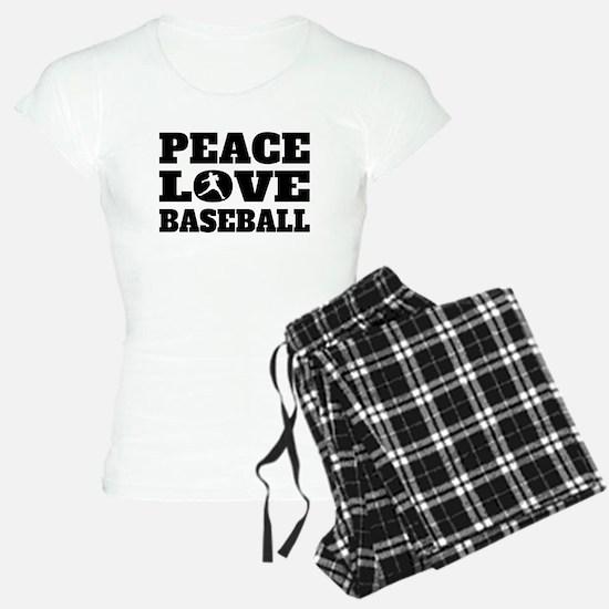 Peace Love Baseball Pajamas