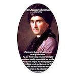 Jean Jacques Rousseau: Education Oval Sticker