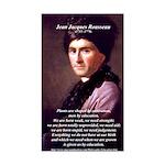 Jean Jacques Rousseau: Education Sticker (Rectangu